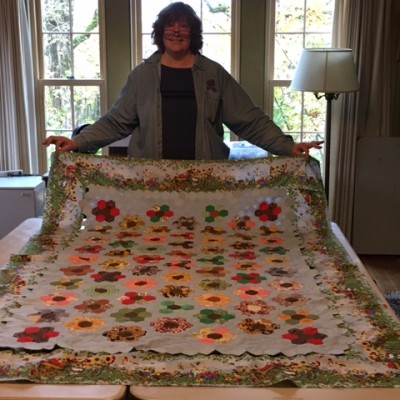 Jean and her quilt