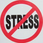 No Stress sign circle slash