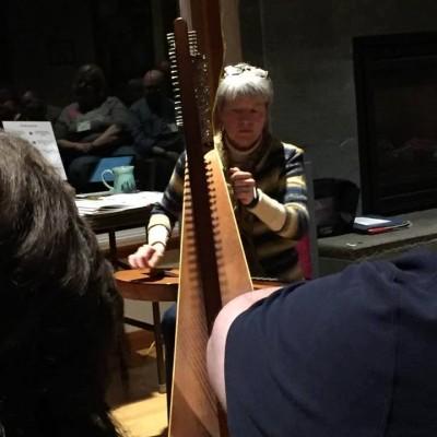Lorinda can play the harp & the dulcimer!